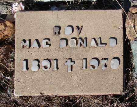 MACDONALD, J. ROY - Yavapai County, Arizona | J. ROY MACDONALD - Arizona Gravestone Photos