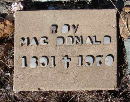 MACDONALD, J. ROY - Yavapai County, Arizona   J. ROY MACDONALD - Arizona Gravestone Photos