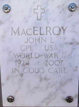 MACELROY, JOHN LESLIE - Yavapai County, Arizona | JOHN LESLIE MACELROY - Arizona Gravestone Photos