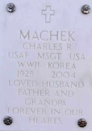 MACHEK, CHARLES R. - Yavapai County, Arizona | CHARLES R. MACHEK - Arizona Gravestone Photos