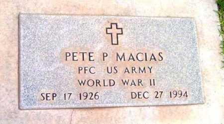 MACIAS, PETE P. - Yavapai County, Arizona   PETE P. MACIAS - Arizona Gravestone Photos