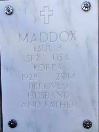 MADDOX, PAUL B. - Yavapai County, Arizona | PAUL B. MADDOX - Arizona Gravestone Photos