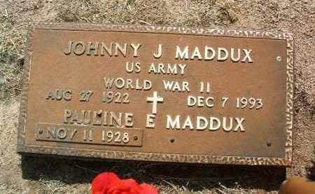 MADDUX, PAULINE ETHEL - Yavapai County, Arizona   PAULINE ETHEL MADDUX - Arizona Gravestone Photos