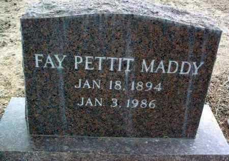 PETTIT MADDY, FAY - Yavapai County, Arizona | FAY PETTIT MADDY - Arizona Gravestone Photos
