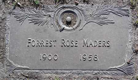 MADERS, FORREST ROSE - Yavapai County, Arizona | FORREST ROSE MADERS - Arizona Gravestone Photos