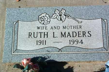MADERS, RUTH L. - Yavapai County, Arizona   RUTH L. MADERS - Arizona Gravestone Photos