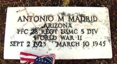 MADRID, ANTONIO M. - Yavapai County, Arizona | ANTONIO M. MADRID - Arizona Gravestone Photos