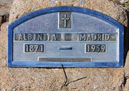 MADRID, ALBINITA - Yavapai County, Arizona | ALBINITA MADRID - Arizona Gravestone Photos