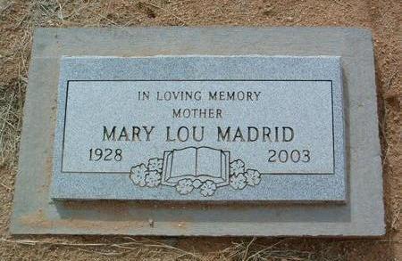MADRID, MARY LOU - Yavapai County, Arizona | MARY LOU MADRID - Arizona Gravestone Photos