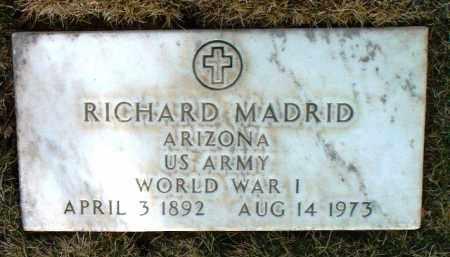 MADRID, RICHARD - Yavapai County, Arizona | RICHARD MADRID - Arizona Gravestone Photos