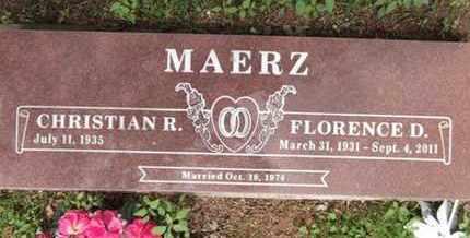 MAERZ, CHRISTIAN R. - Yavapai County, Arizona   CHRISTIAN R. MAERZ - Arizona Gravestone Photos