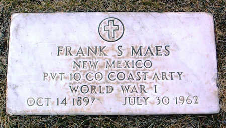 MAES, FRANK S. - Yavapai County, Arizona | FRANK S. MAES - Arizona Gravestone Photos