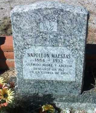 MAESTAS, NAPOLEON - Yavapai County, Arizona   NAPOLEON MAESTAS - Arizona Gravestone Photos