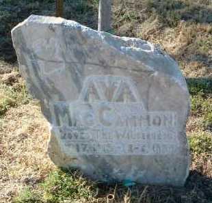MACCAMMON, AVA - Yavapai County, Arizona   AVA MACCAMMON - Arizona Gravestone Photos