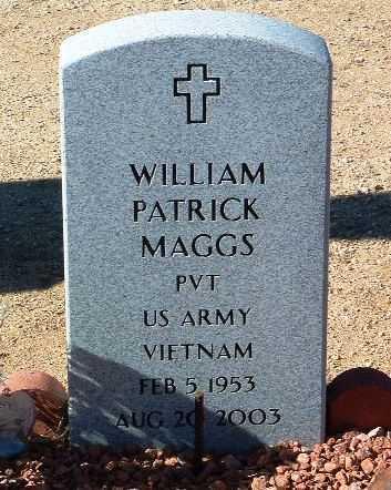 MAGGS, WILLIAM PATRICK - Yavapai County, Arizona | WILLIAM PATRICK MAGGS - Arizona Gravestone Photos