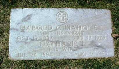 MAHONEY, NATHALIE F. - Yavapai County, Arizona | NATHALIE F. MAHONEY - Arizona Gravestone Photos