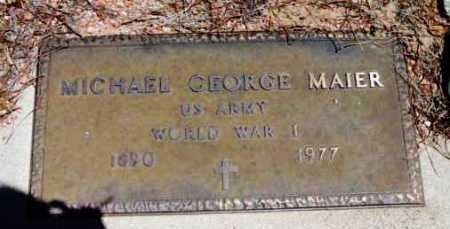 MAIER, MICHAEL GEORGE - Yavapai County, Arizona | MICHAEL GEORGE MAIER - Arizona Gravestone Photos
