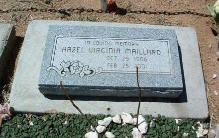MAILLARD, HAZEL VIRGINIA - Yavapai County, Arizona | HAZEL VIRGINIA MAILLARD - Arizona Gravestone Photos