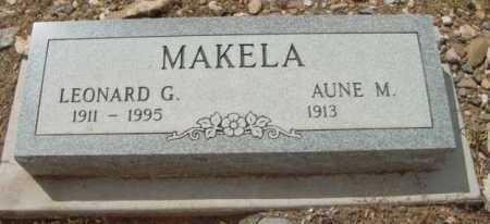 MAKELA, LEONARD G. - Yavapai County, Arizona | LEONARD G. MAKELA - Arizona Gravestone Photos