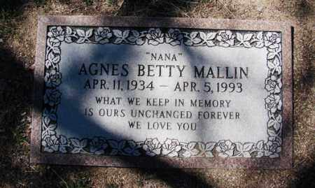 MALLIN, AGNES ELIZABETH - Yavapai County, Arizona | AGNES ELIZABETH MALLIN - Arizona Gravestone Photos