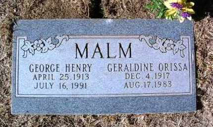 MALM, GEORGE HENRY - Yavapai County, Arizona | GEORGE HENRY MALM - Arizona Gravestone Photos