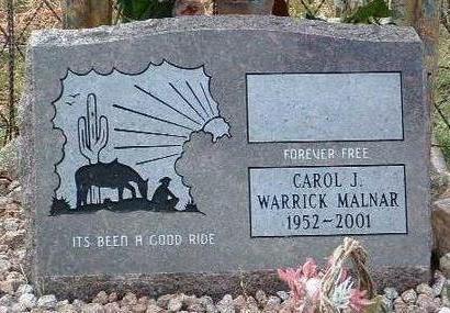 MALNAR, CAROL J. WARRICK - Yavapai County, Arizona | CAROL J. WARRICK MALNAR - Arizona Gravestone Photos