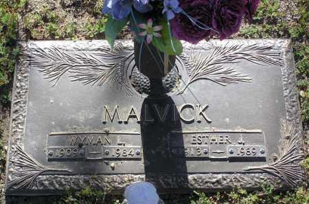 MALVICK, WYMAN L - Yavapai County, Arizona | WYMAN L MALVICK - Arizona Gravestone Photos