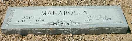 MANAROLLA, JOHN J. - Yavapai County, Arizona | JOHN J. MANAROLLA - Arizona Gravestone Photos
