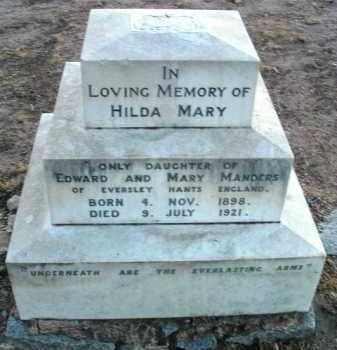 MANDERS, HILDA MARY - Yavapai County, Arizona | HILDA MARY MANDERS - Arizona Gravestone Photos