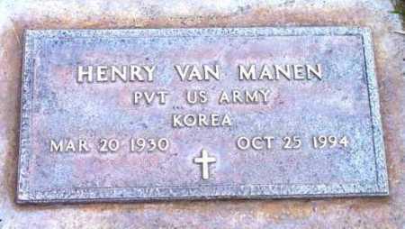 MANEN, HENRY VAN - Yavapai County, Arizona | HENRY VAN MANEN - Arizona Gravestone Photos