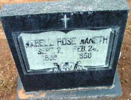 MANETH, MABELL ROSE - Yavapai County, Arizona   MABELL ROSE MANETH - Arizona Gravestone Photos