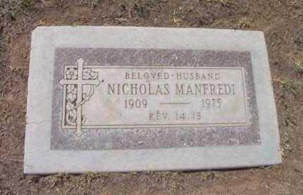 MANFREDI, NICHOLAS - Yavapai County, Arizona | NICHOLAS MANFREDI - Arizona Gravestone Photos