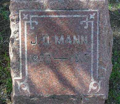 MANN, JOHN D. - Yavapai County, Arizona | JOHN D. MANN - Arizona Gravestone Photos