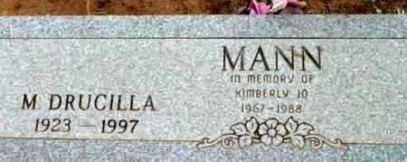 MANN, MARIAM DRUCILLA - Yavapai County, Arizona | MARIAM DRUCILLA MANN - Arizona Gravestone Photos