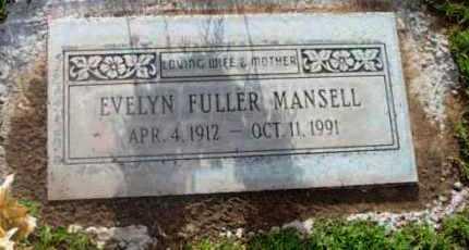 MANSELL, EVELYN MERLE - Yavapai County, Arizona   EVELYN MERLE MANSELL - Arizona Gravestone Photos