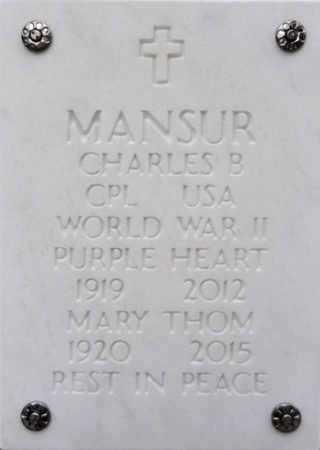 THOM MANSUR, MARY - Yavapai County, Arizona | MARY THOM MANSUR - Arizona Gravestone Photos