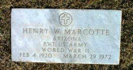 MARCOTTE, HENRY W. - Yavapai County, Arizona   HENRY W. MARCOTTE - Arizona Gravestone Photos