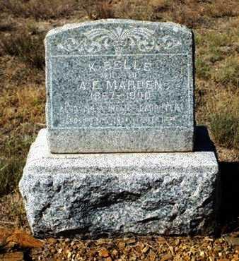 MARDEN, KATHERINE BELLE - Yavapai County, Arizona | KATHERINE BELLE MARDEN - Arizona Gravestone Photos