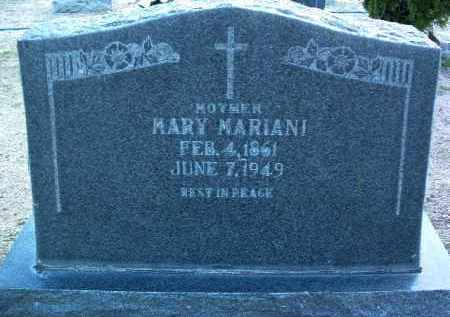 MARIANI, MARY M. - Yavapai County, Arizona | MARY M. MARIANI - Arizona Gravestone Photos