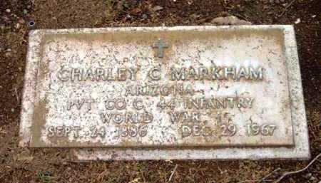 MARKHAM, CHARLEY C. - Yavapai County, Arizona   CHARLEY C. MARKHAM - Arizona Gravestone Photos