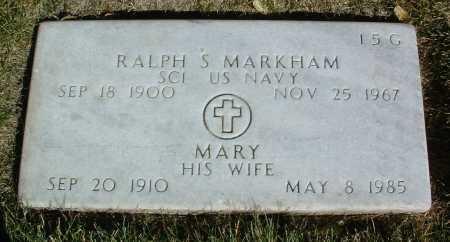 MARKHAM, RALPH S. - Yavapai County, Arizona   RALPH S. MARKHAM - Arizona Gravestone Photos