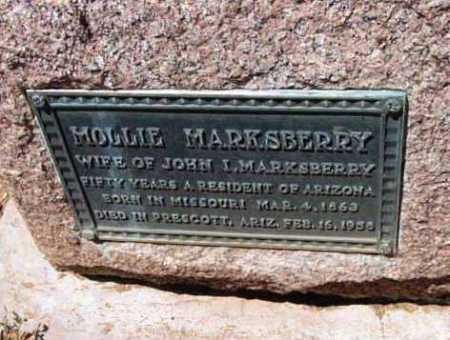 CASTOR MARKSBERRY, M. - Yavapai County, Arizona | M. CASTOR MARKSBERRY - Arizona Gravestone Photos