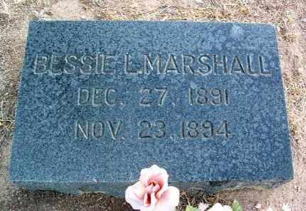 MARSHALL, BESSIE L. - Yavapai County, Arizona | BESSIE L. MARSHALL - Arizona Gravestone Photos
