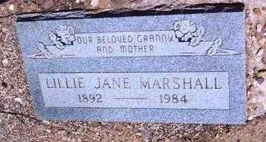 MCMAHAN MARSHALL, LILLIE - Yavapai County, Arizona | LILLIE MCMAHAN MARSHALL - Arizona Gravestone Photos