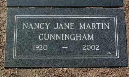 CUNNINGHAM, NANCY JANE - Yavapai County, Arizona | NANCY JANE CUNNINGHAM - Arizona Gravestone Photos