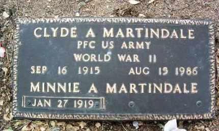 MARTINDALE, CLYDE ADELL - Yavapai County, Arizona | CLYDE ADELL MARTINDALE - Arizona Gravestone Photos
