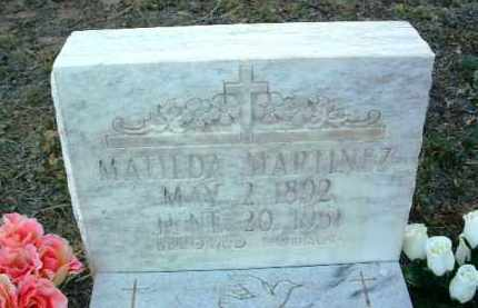 MARTINEZ, MATILDA - Yavapai County, Arizona | MATILDA MARTINEZ - Arizona Gravestone Photos