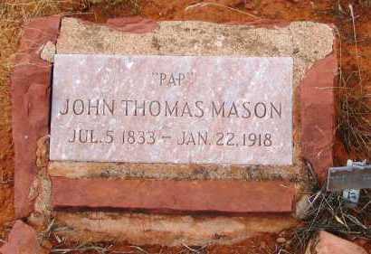 MASON, JOHN THOMAS  (PAP) - Yavapai County, Arizona | JOHN THOMAS  (PAP) MASON - Arizona Gravestone Photos