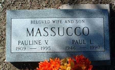 LOVE MASSUCCO, PAULINE - Yavapai County, Arizona | PAULINE LOVE MASSUCCO - Arizona Gravestone Photos