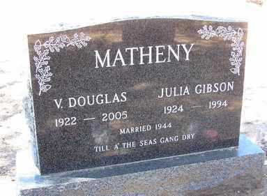 MATHENY, VOLNEY DOUGLAS - Yavapai County, Arizona | VOLNEY DOUGLAS MATHENY - Arizona Gravestone Photos
